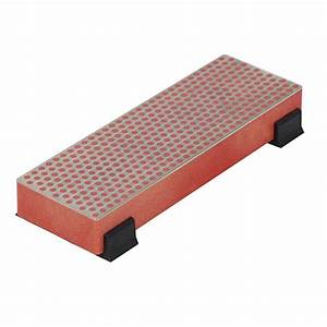Dmt 6 in diamond whetstone bench stone with rubber feet for Rubber furniture feet home depot