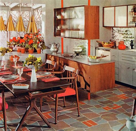 wooden floor kitchen 25 best ideas about mid century kitchens on 1161