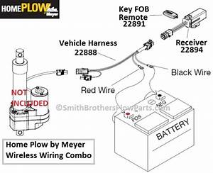 Home Plow By Meyer Auto Angling 24000 Wireless Controller    Wiring Harness Combo