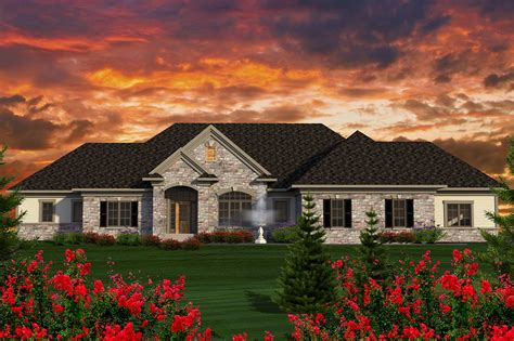 sprawling ranch house plan ah architectural designs house plans