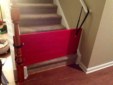industrial strength velcro lowes diy bottom of stairs baby gate w one side banister get a