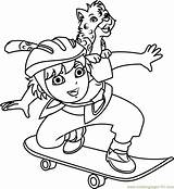 Coloring Diego Skateboarding Marquez Pages Play Go Coloringpages101 Pdf Cartoon sketch template