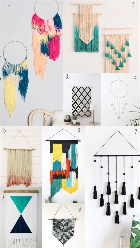9 Amazing Diy Wall Hangings  Tell Love And Party