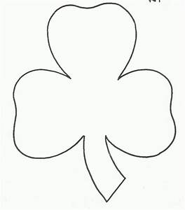 7 best images of shamrock stencil printable shamrock With shamrock cut out template