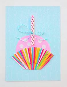 Cute Cupcake DIY Birthday Card - diycandy com
