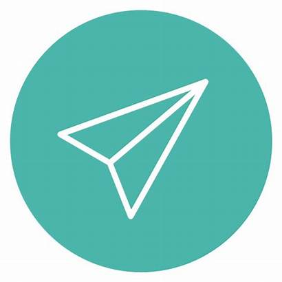 Send Icon Circle Icons урок изпрати