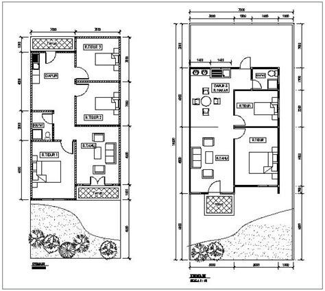gambar rancangan denah rumah bertingkat lt  idaman gambar