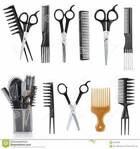 A Collection Of Tools For Professional Hair Stylist And ...