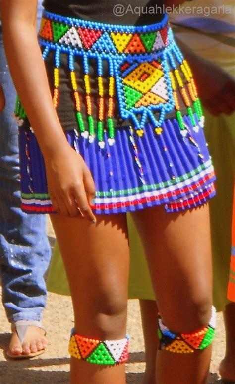 beading zulu skirts  skirt   knee accesories