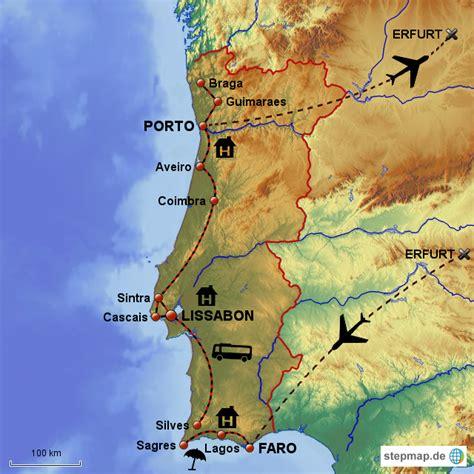 StepMap - Karte Portugal - Landkarte für Portugal