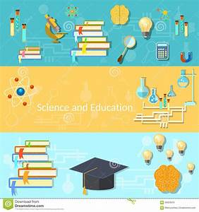 Science And Education  Training  Brain  Vector Banners