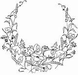 Border Flower Coloring Pages Floral Corner Pattern Embroidery Getdrawings sketch template