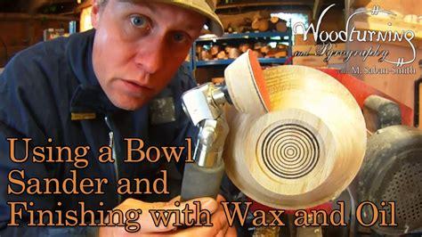 woodturning   friction bowl sander