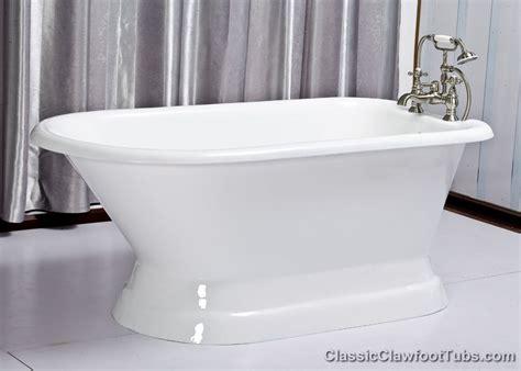 rolled rim cast iron pedestal tub classic clawfoot tub