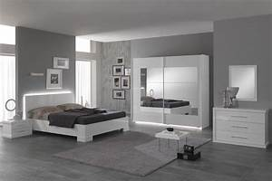 Chambre à Coucher Adulte : chambre a coucher couleur blanche ~ Teatrodelosmanantiales.com Idées de Décoration