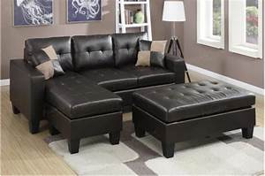 75 modern sectional sofas for small spaces 2018 for Small spaces sectional sofa black faux leather