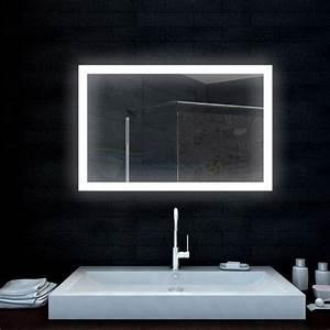 Lampe Für Badezimmerspiegel : badezimmerspiegel lichtspiegel mit led lampe 100x65 cm m bel24 ~ Orissabook.com Haus und Dekorationen
