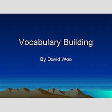 Presentation Vocabulary Building