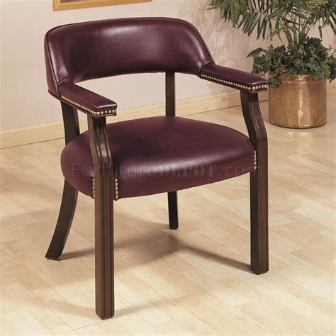 burgundy vinyl classic commercial office chair w nailhead trim