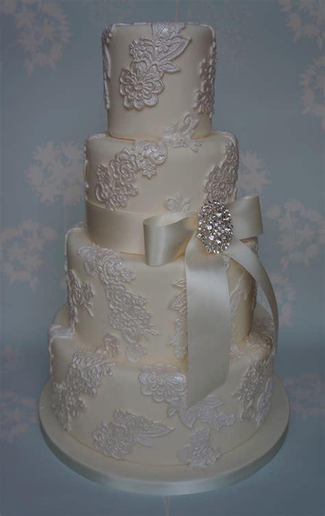 lace applique wedding cake cakecentralcom