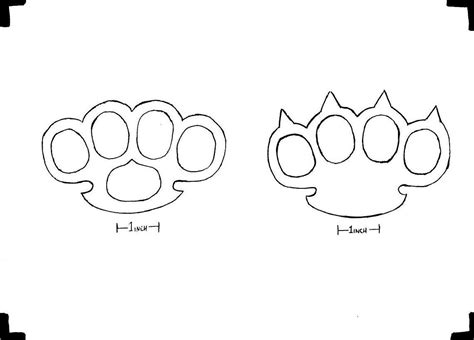 Brass Knuckles Template by Brass Knuckles Template 28 Images Brass Knuckle