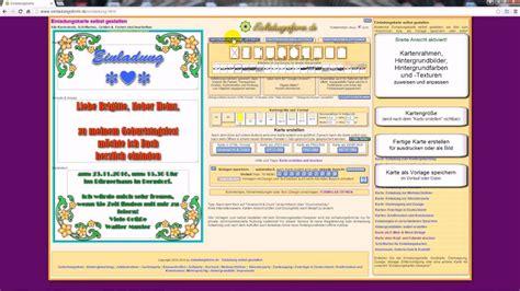 einladungskarten zum geburtstag kostenlos selbst gestalten