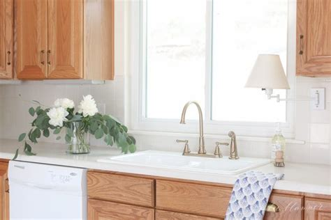 how to update kitchen cabinets without painting how to update a 90 s kitchen without painting the cabinets