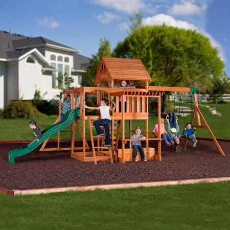Backyard Discovery Monticello Cedar Swing Set Walmartcom
