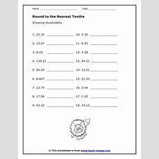 Rounding Two Decimal Places Worksheet  Decimals Worksheets Free Printables Education