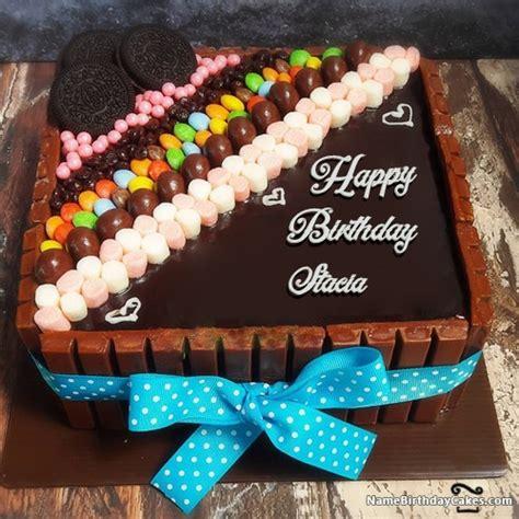 happy birthday stacia cakes cards wishes