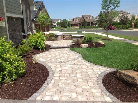 landscape design with pavers groundwrx landscape hardscape design maple grove mn