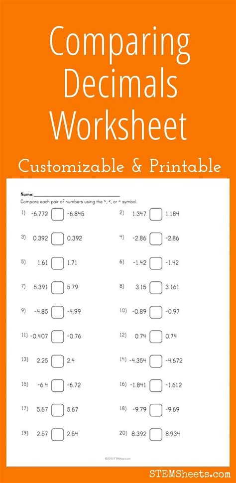 17 best ideas about decimals worksheets on