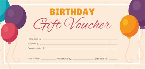 Birthday Cheque Template Free Birthday Gift Voucher Template In Adobe Photoshop