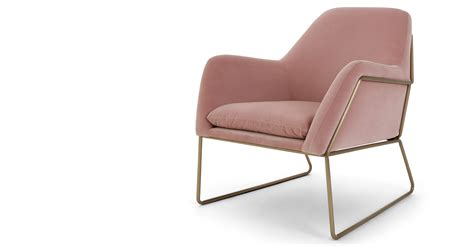 Made Armchairs by Frame Armchair Blush Cotton Velvet Made