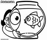 Aquarium Coloring Pages Colorings sketch template