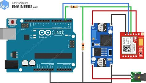 arduino wiring fritzing connections with sim800l gsm gprs module lm2596 air quality monitor