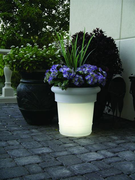 gardenglo electric lighted planters