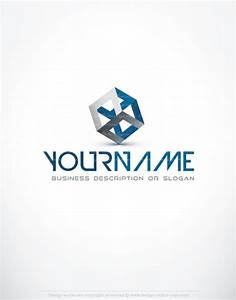 Exclusive Design 3D Blue cube Logo FREE Business Card