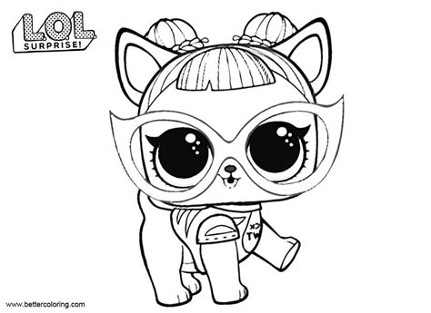 lol pets coloring pages baby dog  printable coloring