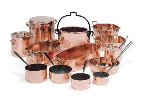 an assembled copper batterie de cuisine most late 19th century christie s