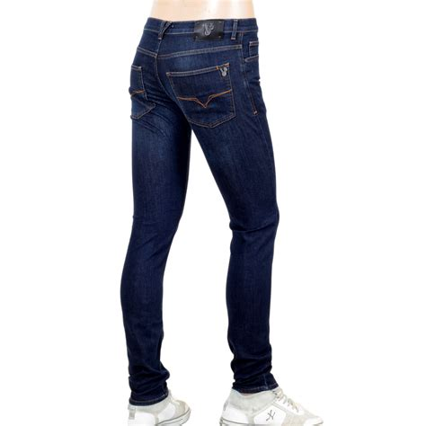 awesome blue skinny jeans  men  versace clothing