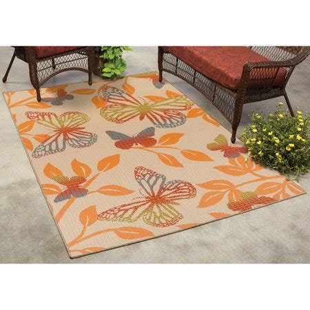 outdoor rugs walmart mainstays butterfly indoor outdoor rug walmart