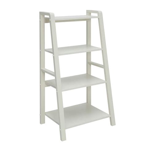 Small White Bookcase by Charles Polar White Small Office Bookcase Sk19185br1 Pw