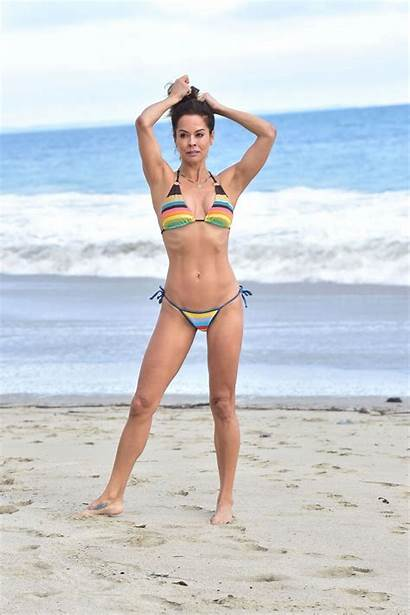 Burke Brooke Bikini Beach Photoshoot Malibu Colorful