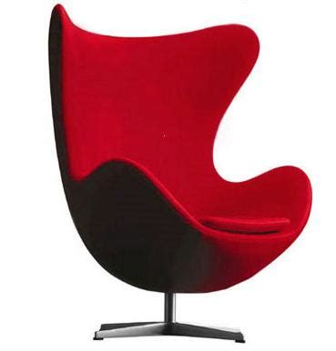 fauteuil egg rouge discount design