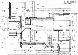 plan darchitecte avec cotation maison moderne With plan maison avec cotation