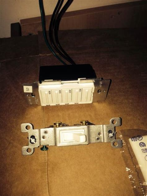 bathroom exhaust light   switches red wire
