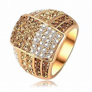 fashion brand jewelry rings genuine austrian crystal With crystal wedding rings