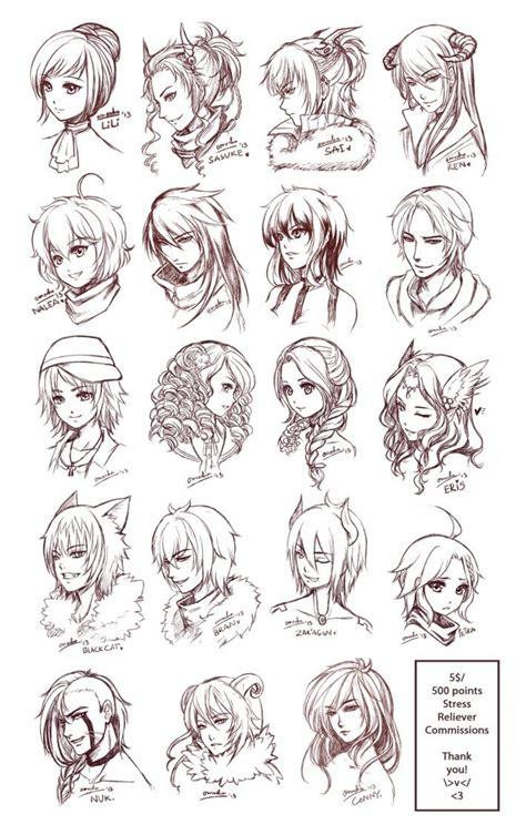 ideas  anime hairstyles  pinterest manga