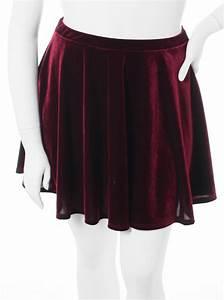 Plus Size Designer Velvet Wine Skirt
